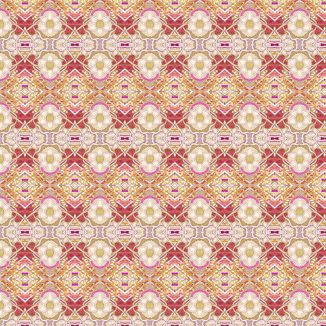 Granny's Old Fashioned Horizontal Floral Stripe fabric by edsel2084 on Spoonflower - custom fabric
