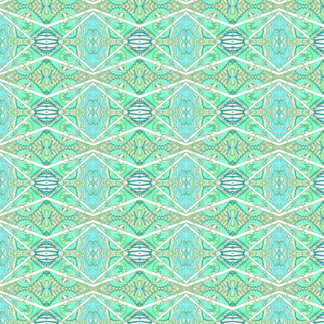 Crooked Horizontal Mint Stripe fabric by edsel2084 on Spoonflower - custom fabric