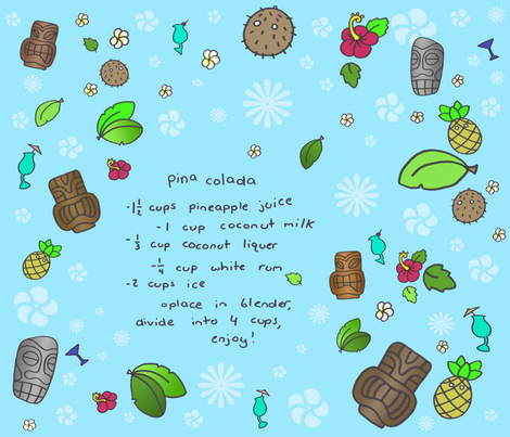 If you like pina coladas... fabric by smokey_longlong on Spoonflower - custom fabric