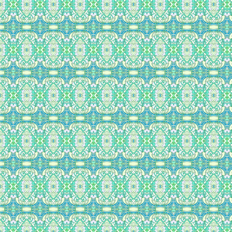 Aqua Time (horizonal stripe) fabric by edsel2084 on Spoonflower - custom fabric