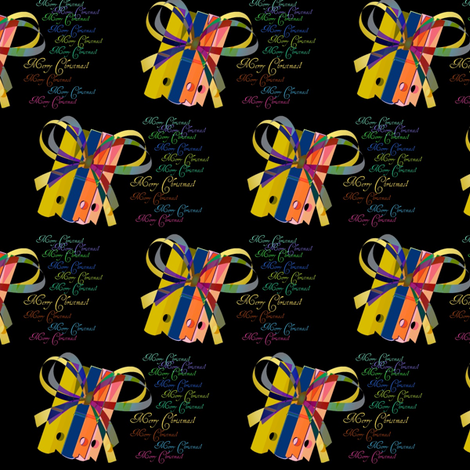 Merry_Christmas_by_Evandecraats fabric by _vandecraats on Spoonflower - custom fabric