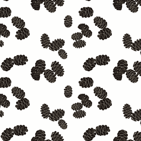 pinecones fabric by keweenawchris on Spoonflower - custom fabric