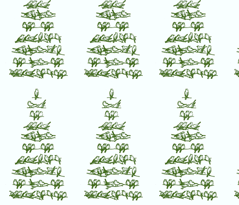 Tree of Song Birds fabric by disgusted_cats on Spoonflower - custom fabric