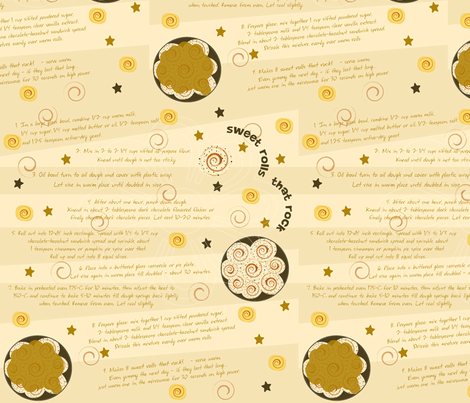 recipe_sweet_rolls fabric by cutekittypunk on Spoonflower - custom fabric