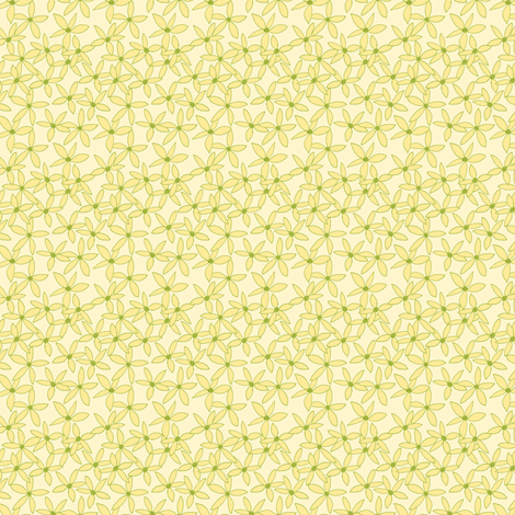 Australian Christmas Bush, Scattered Blossoms on Light Cream. fabric by rhondadesigns on Spoonflower - custom fabric