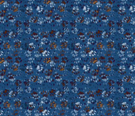 Sid and Mander Paws 1 - London Blue and Russet fabric by jenithea on Spoonflower - custom fabric