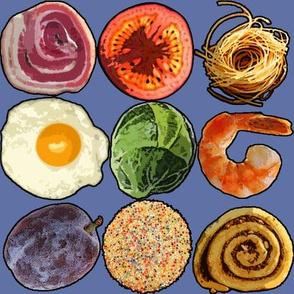 Round Food Blue