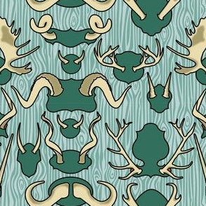 Antler Wall Teal