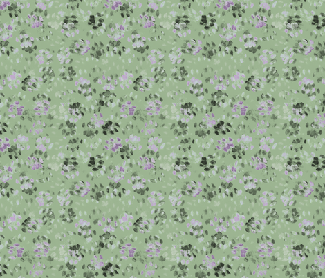 Sid and Mander Paws 3 - Mint and Lavender fabric by jenithea on Spoonflower - custom fabric