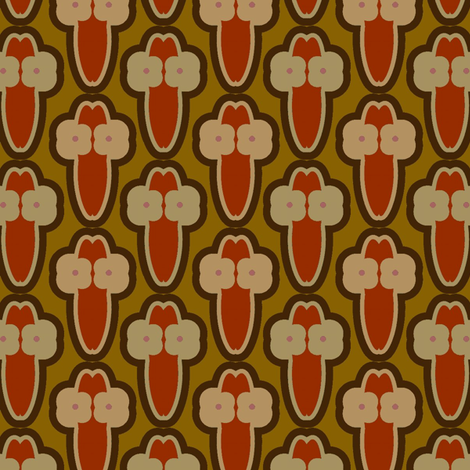 Cactus Flowers (Reds) fabric by david_kent_collections on Spoonflower - custom fabric