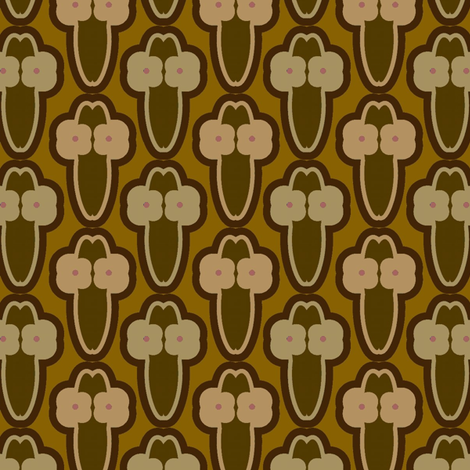 Cactus Flowers (Browns) fabric by david_kent_collections on Spoonflower - custom fabric