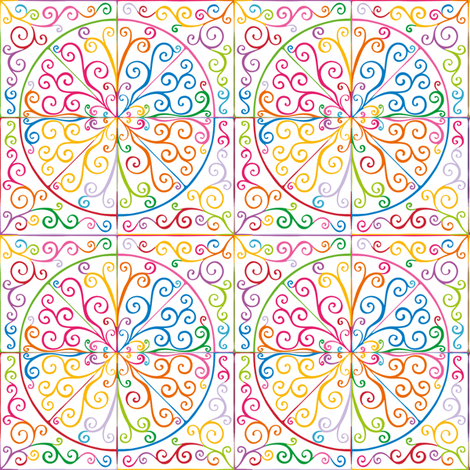 Colorful Curls fabric by samvanvoorst on Spoonflower - custom fabric