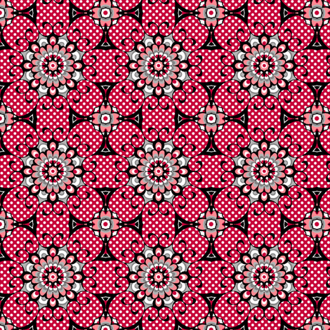 Elegant Spider - Red fabric by siya on Spoonflower - custom fabric