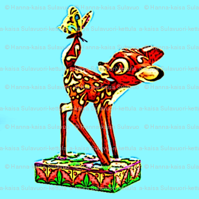Bambi_with_butterfly_statue