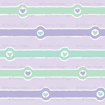 Love Chain: Faithful II (lavender, mint green, purple, white)