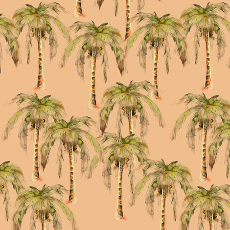 Coconut Palm Trees fabric by eclectic_house on Spoonflower - custom fabric