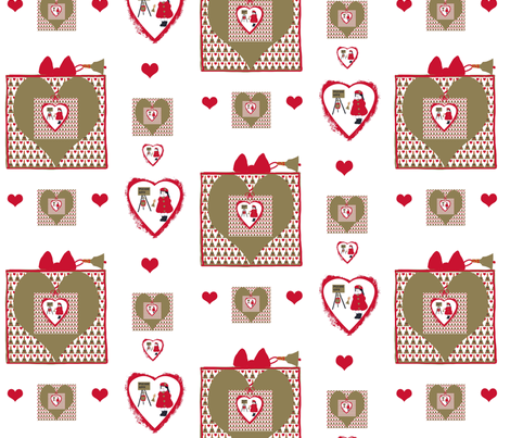 The Gift of Giving Melody fabric by karenharveycox on Spoonflower - custom fabric