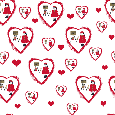 The Heart of Giving fabric by karenharveycox on Spoonflower - custom fabric