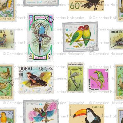 bird stamp pattern
