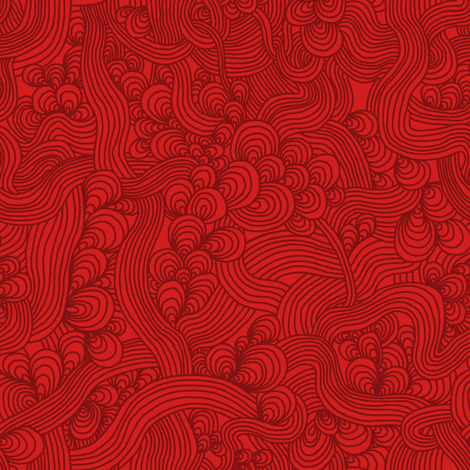 Weave - Red fabric by rikkib on Spoonflower - custom fabric