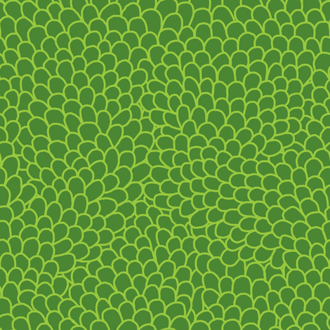 Shells - green fabric by rikkib on Spoonflower - custom fabric