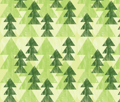 Vintage Evergreens fabric by stephanie_ellis on Spoonflower - custom fabric