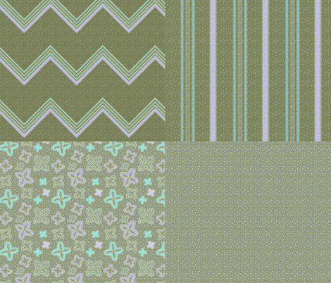 jade jacks 4x1 fabric by glimmericks on Spoonflower - custom fabric