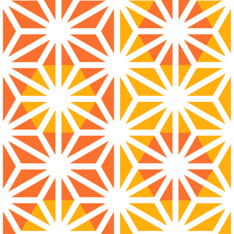 Asanoha (Yellow) fabric by nekineko on Spoonflower - custom fabric
