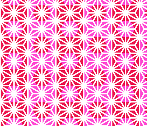 Asanoha (Pink) fabric by nekineko on Spoonflower - custom fabric
