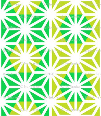 Asanoha (Green)