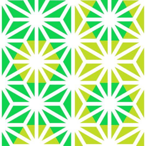 Asanoha (Green) fabric by nekineko on Spoonflower - custom fabric