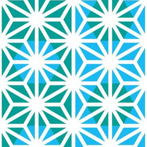 Asanoha (Blue)