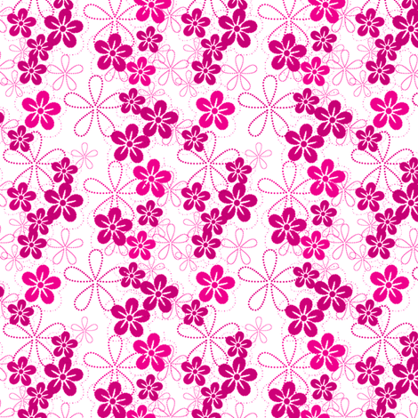 ISLAND PINKS! - © PinkSodaPop 4ComputerHeaven.com fabric by pinksodapop on Spoonflower - custom fabric