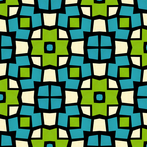 Retro Mosaic fabric by stoflab on Spoonflower - custom fabric
