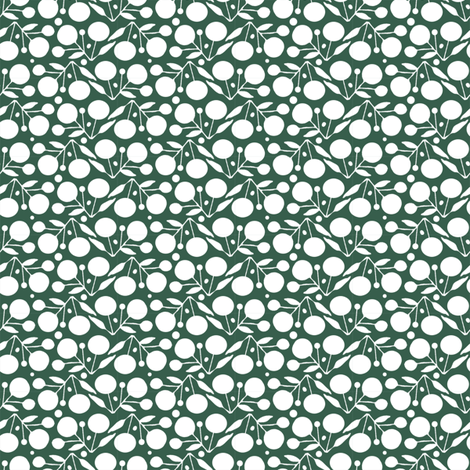 Winterberry Snow fabric by spellstone on Spoonflower - custom fabric