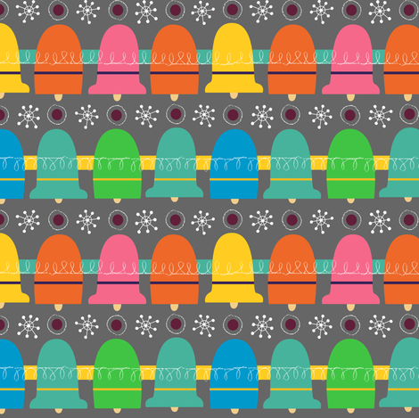 Festive Bells Galore  fabric by gsonge on Spoonflower - custom fabric