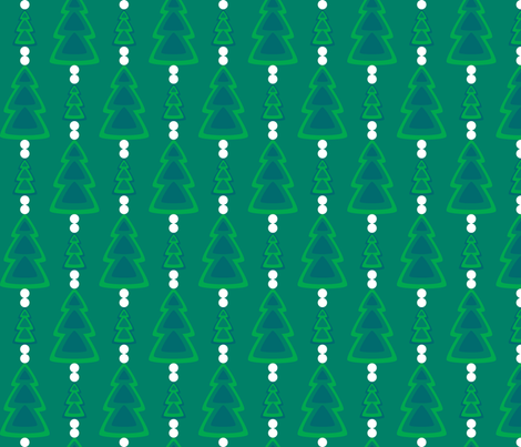 Retro Evergreens fabric by modgeek on Spoonflower - custom fabric