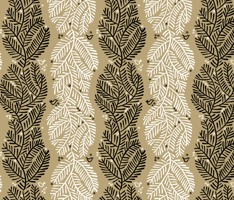 arborvitae - linen fabric by monmeehan on Spoonflower - custom fabric