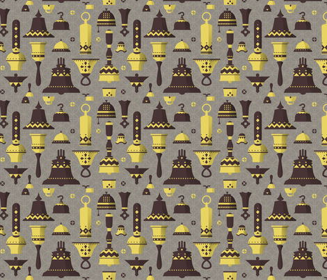 bells fabric by theboerwar on Spoonflower - custom fabric