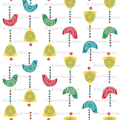 Bells, Birds & Beads (White)