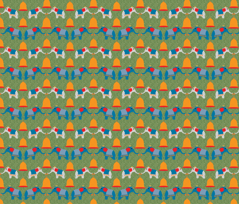 lucky bells, lucky elephants, lucky you! fabric by vo_aka_virginiao on Spoonflower - custom fabric