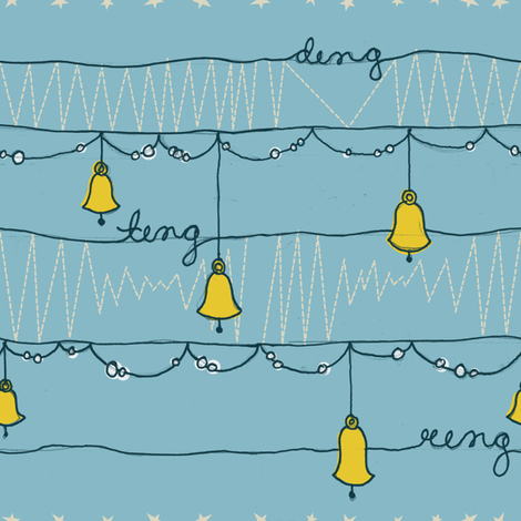 Bells fabric by landonsheely on Spoonflower - custom fabric