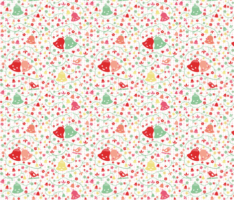 Ring my Bell Pastel fabric by miss_honeybird on Spoonflower - custom fabric