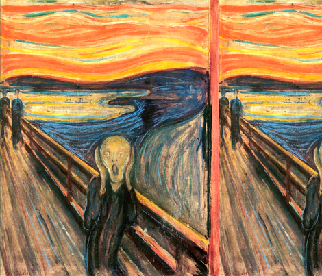 Munch - The Scream (1893) fabric by studiofibonacci on Spoonflower - custom fabric