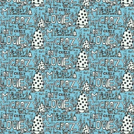 my goofy loves bells fabric by risha on Spoonflower - custom fabric