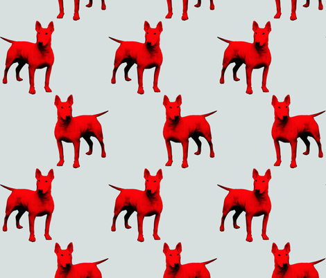 red dogs 1 fabric by susiprint on Spoonflower - custom fabric