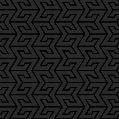 Sigma Geometric - Gray/Black fabric by shannonmac on Spoonflower - custom fabric