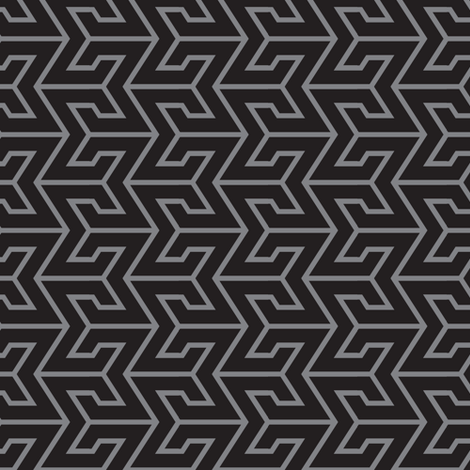 Sigma Geometric - Black/Gray fabric by shannonmac on Spoonflower - custom fabric
