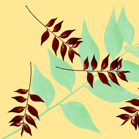 fallen leaves fabric by nalo_hopkinson on Spoonflower - custom fabric