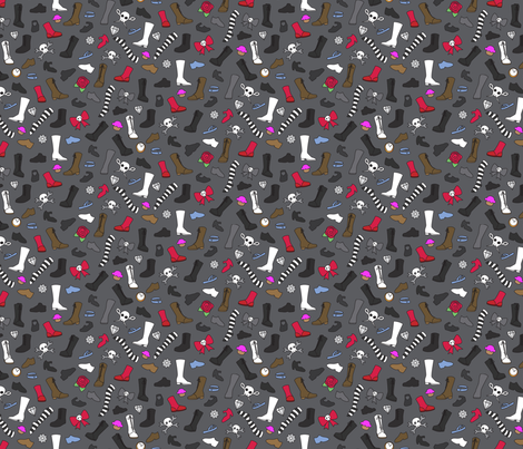 Sinbonnet Shoe fabric by urban_threads on Spoonflower - custom fabric